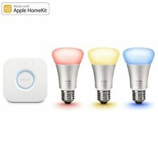 Philips Hue White & Colour Ambience Wireless Smart Lighting E27 Bulb Starter Kit