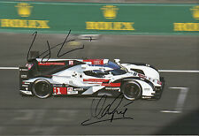 Marc Gene and Lucas di Grassi Audi R18 e-tron quattro Hand Signed 12x8 Photo 4.