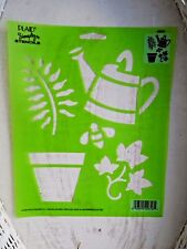 New Garden  Stencil - Leaves, Flower Pot, Watering Can, Bumble Bee