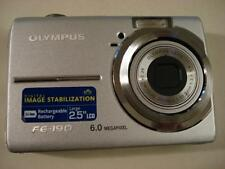 Very Nice Olympus FE-190 6MP Digital Camera FE190 Silver