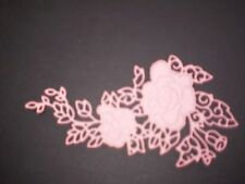 Flower spray paper cut outs from metal die - tattered lace
