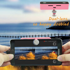 100 Degree Dual Lens VR Video Camera 3D Camcorder For Android Phone Samsung Pink