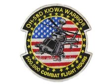 OH-58D Kiowa Warrior 500,000 Combat Flight Aviation Army Bell Helicopter Patch
