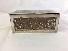 WMF - 'Le Baiser à la dérobée' - Silver plated Art nouveau jewellery box