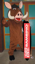 Pumba King Mascot Costume - Lion Hog Pig Outfit - Simba Character Peppa
