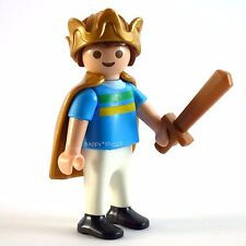 Playmobil Child Figure with King's Cape, Crown and Sword dollhouse extra parts