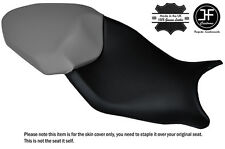 DESIGN 3 BLACK & GREY CUSTOM FITS BMW S 1000 XR 15-16 DUAL LEATHER SEAT COVER