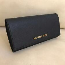 NEW Michael Kors Black Leather Jet Set Flap Carryall Wallet Purse