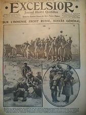 WW1 N° 2062 FRONT RUSSE OFFENSIVE ITALIENNE CAMPAGNE ALPINE EXCELSIOR 1916