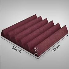 6 PCS Wedge Studio Soundproof Burgundy Acoustic Foam for Free Shipping