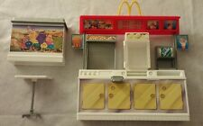 BARBIE MCDONALDS FUN TIME play set restaurant counter table 2001 food station