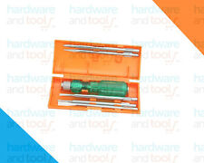 Screwdriver set of 5 blades +1 holder with built in tester Taparia Model: 812