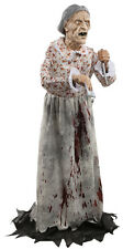 Halloween LifeSize KILLER GRANNY BATES Non Animated Prop Haunted House NEW