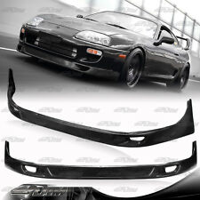 JDM Style Flat Black Polyurethane PU Front Bumper Lip For 1993-1998 Toyota Supra