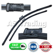 """FOR FIAT 500 2007- DIRECT FIT FRONT AERO WINDOW WIPER BLADES PAIR 24"""" + 13"""""""