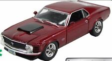 Ford Mustang Boss Model Car 429 1970 - Burgundy  American Muscle, G,1/24 Scale