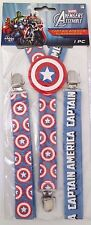 Marvel Comics Captain america Adult Men's Boy's Youth Superhero Suspenders 14+