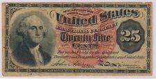 UNITED STATES - fractional 25 cents 1863  used currency note