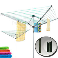 3 OR 4 ARM ROTARY CLOTHES AIRER DRYER OUTDOOR INDOOR WASHING LINE LAUNDRY TOWEL