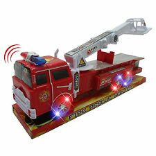Light Up Fire Engine Rescue Truck with Firefighter Utility Bucket