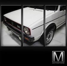 VW GOLF I GTI  Giugiaro LEINWAND auf 3 Keilrahmen Bild Auto Poster Lounge Canvas