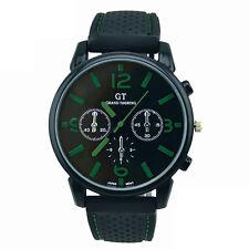 Digital Sport Silikon Armband Edelstahl Uhr Herrenuhr Quarz Armbanduhr Watch NEU
