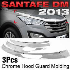 Chrome Hood Guard Garnish Molding Trim D502 for HYUNDAI 2013 - 2017 Santa Fe DM