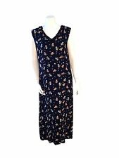 Putomayo Multicolor Floral Watering Cans / Plants Themed Long Maxi Dress-Size XL