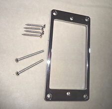 SHORT METAL HUMBUCKER PICKUP RING SURROUND MIGHTY MITE CHROME 4 Electric Guitar