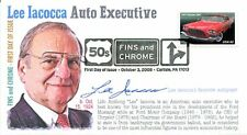 COVERSCAPE computer generated Lee Iacocca 2008 Fins and Chrome First Day Cover