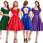 50S 60S Style Vintage Swing Pinup TEA JIVE Circle Evening Party Dress