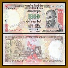India 1000 Rupees , 2007 New Rupees Symbol (Gandhi) AU