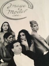 Vintage Image Model Inc Poster / Black And White Nudity / Circa 1980s