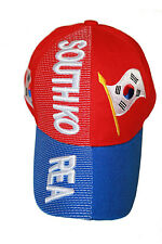SOUTH KOREA BLUE RED COUNTRY FLAG EMBOSSED HAT CAP .. NEW