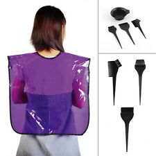 4x Hair Dye Colouring Bleach Bowl Comb Brushes Tint Kit Set Hairdressing SalonFN