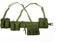 Surplus Chinese Type 63 Rifle Combat Webbing Bandolier Gear Pouches- CN020
