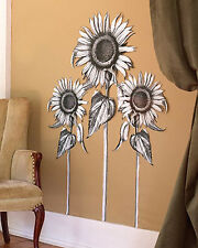 Sunflowers Sun Flower Wall Murals Black White Floral Decor Walls Decals Stickers