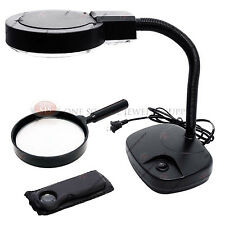 Flexible Neck Magnifier Handheld & Pocket Magnifying Set Illuminated Lighted