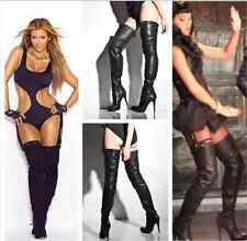"""SUPER SEXY!!! REPORT SIGNATURE """"KNAE"""" HIGH HEEL SUEDE  OVER THE KNEE BOOTS 9"""