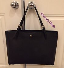 Tory Burch York Buckle Tote In Black Saffiano Leather MSRP $295 Genuine