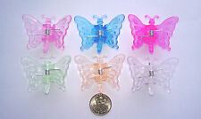 Butterfly orchid spike clips, 100 pcs/pack, 6 colors.