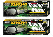 2x Caravan Car Trailer Towing Convex Mirror Extension Universal Mirrors MP8322