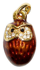 CHOUETTE Pendentif en forme oeuf CHOUETTE, Oeuf style Faberge pendentif CHOUETTE