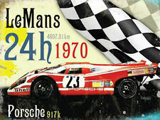 Le Mans 24h 1970 Porsche 917k Race Car Classic Motorsport, Large Metal/Tin Sign
