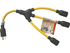 Prime Wire Model AD160802L 2 ft. 12 3 STOW Twist to Lock Yellow Win Adapter