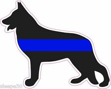 German Shepherd Thin Blue Line Police Dog K9 UNIT Vinyl Window Decal Sticker