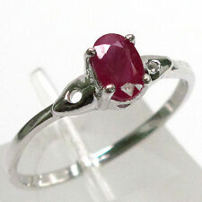 SPECIAL SALE BIN $14.99 AWESOME GENUINE RUBY 925 STERLING SILVER RING SIZE 6.5