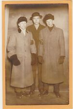 Real Photo Postcard RPPC - Three Dapper Men with Hats and Gloves