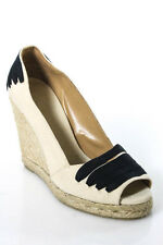 Castaner Beige Canvas Espadrille Laced Detail Wedge Pumps Size 36 6