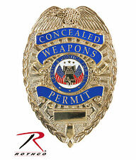 New Rothco 1946 Concealed Carry CCW Permit Identification Badge Gold Finish